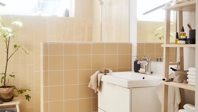 deco salle de bain blanc beige