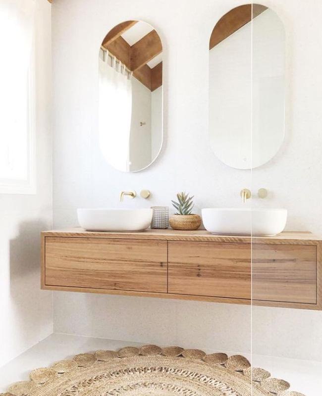 deco salle de bain boheme beige blanc