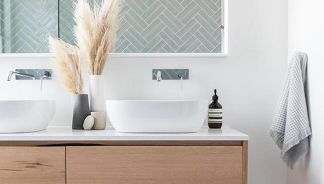 deco salle de bain nature bois