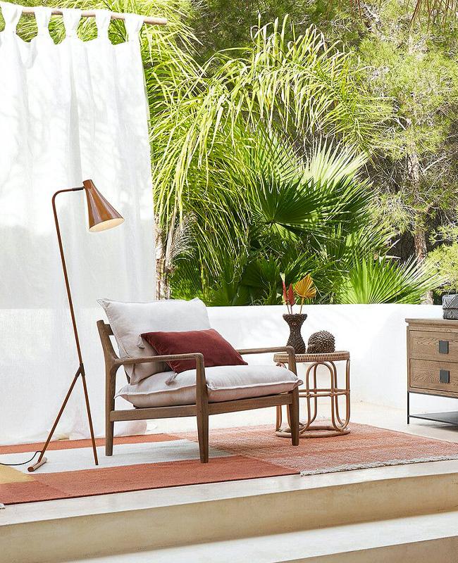 fauteuil bois vintage
