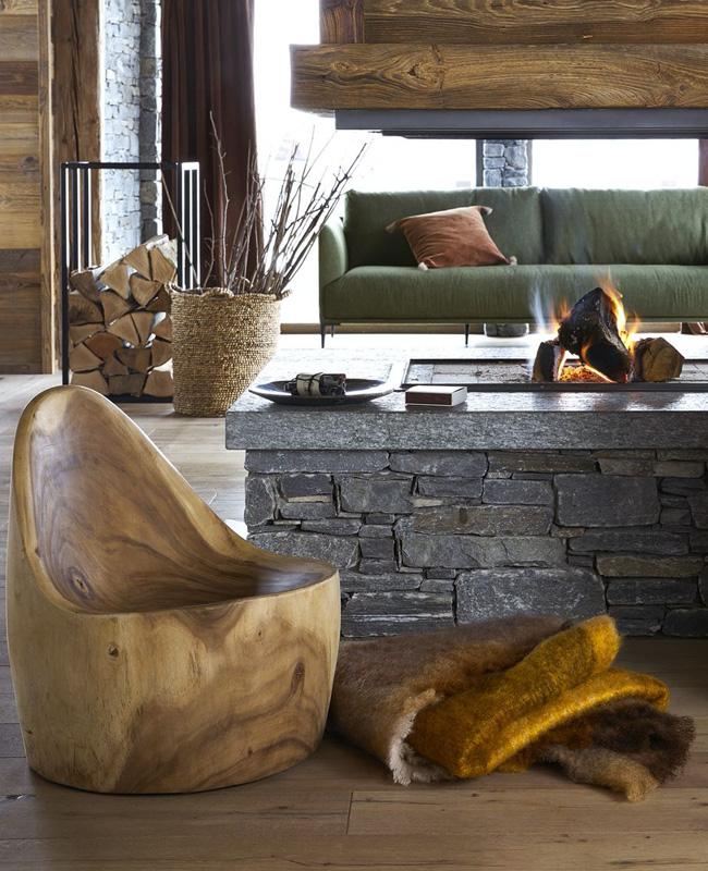 fauteuil bois sculpte