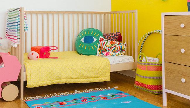 deco chambre bebe jaune bleu