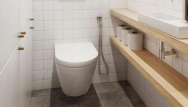 deco toilettes wc bois