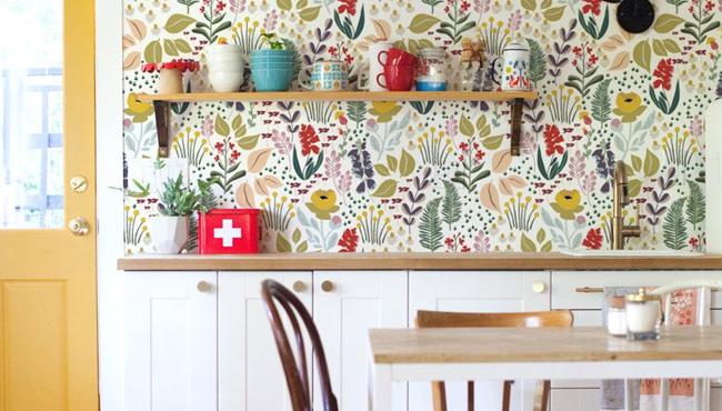deco cuisine papier peint