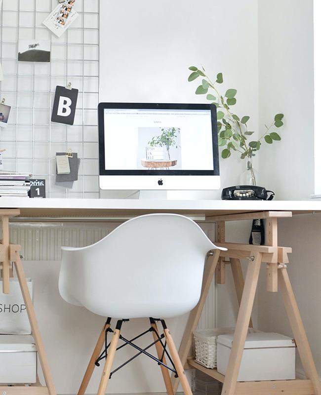 bureau nature scandinave blanc bois