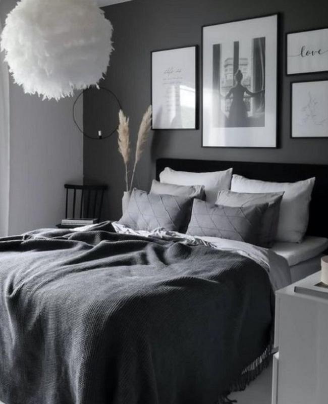 deco chambre noir gris