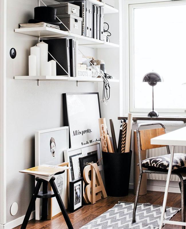bureau deco moderne noir bois
