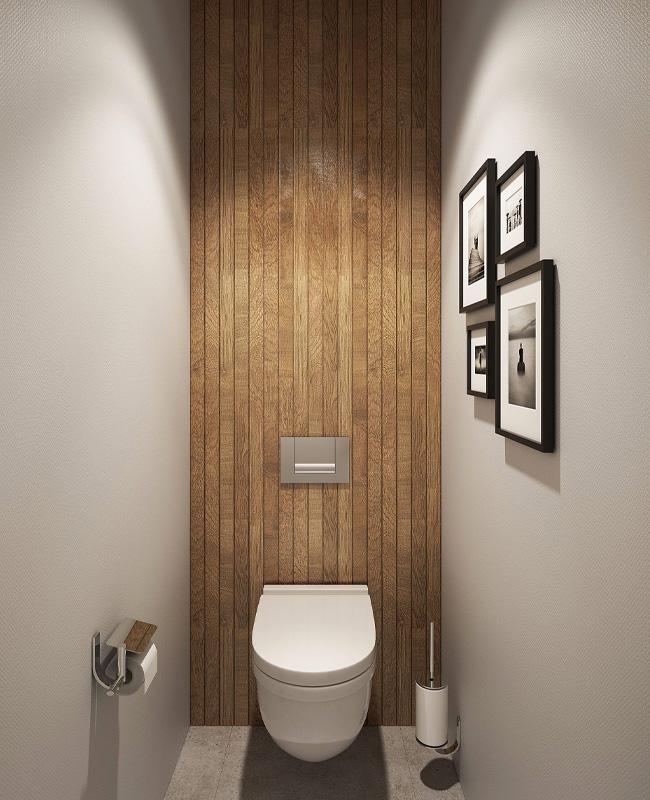 deco mur bois toilettes