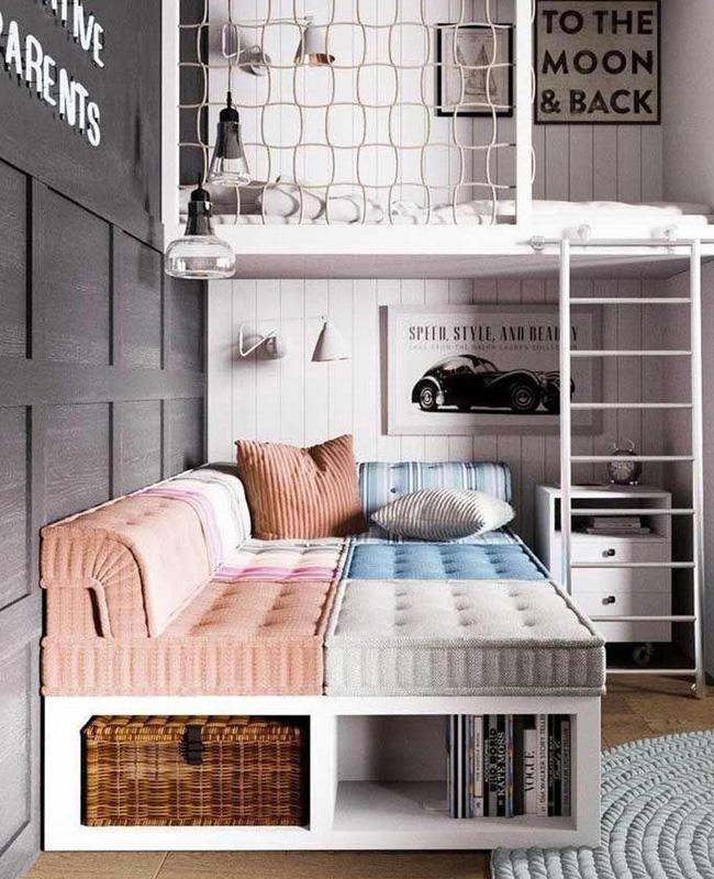 mezzanine sur mesure deco chambre ado cosy