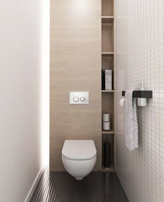 deco toilettes bois meuble sur mesure