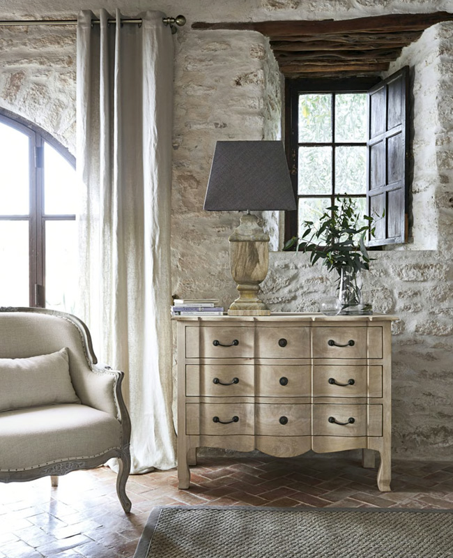 commode campagne chic bois