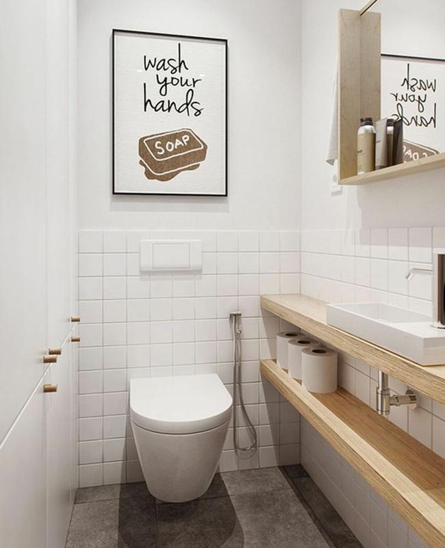 toilettes meubles sous vasque bois