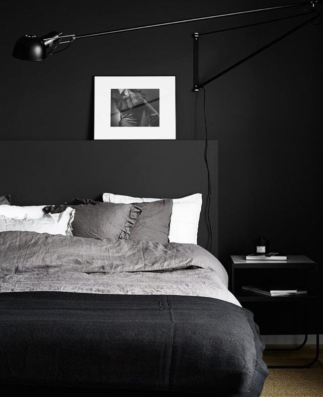 deco chambre noir moderne