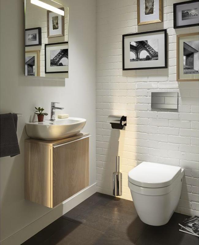 deco toilettes wc meuble bois moderne