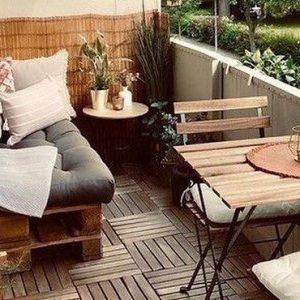 deco balcon bois