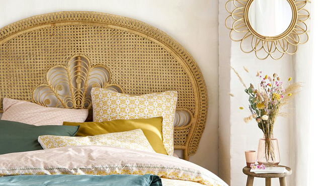 deco chambre cannage
