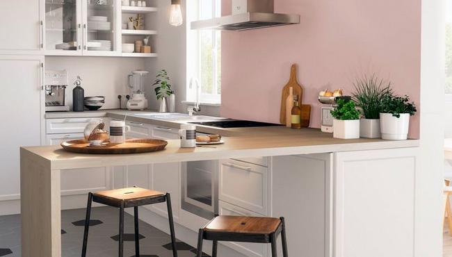 deco cuisine rose gris