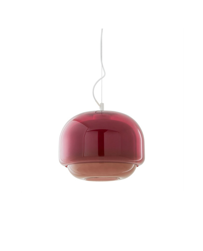 suspension verre rouge