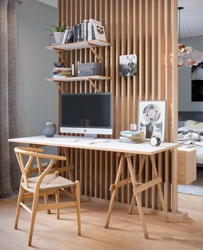 bureau claustra bois chambre
