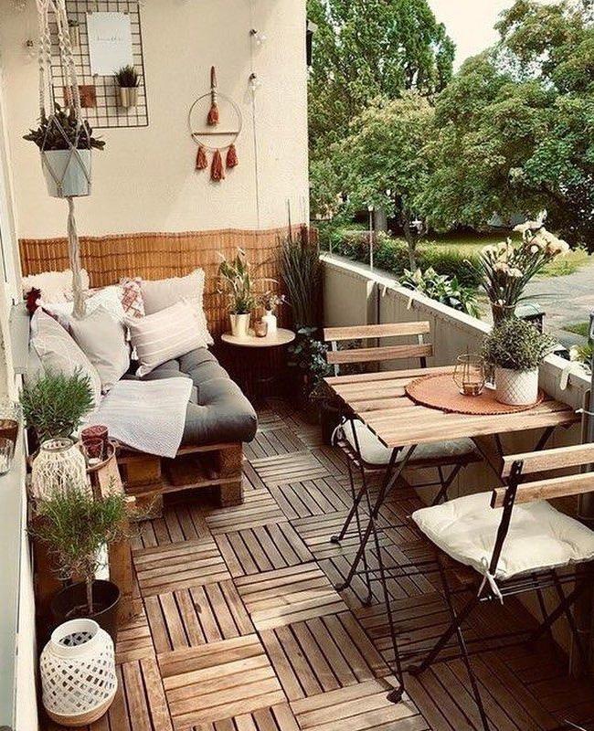 deco balcon cosy bois