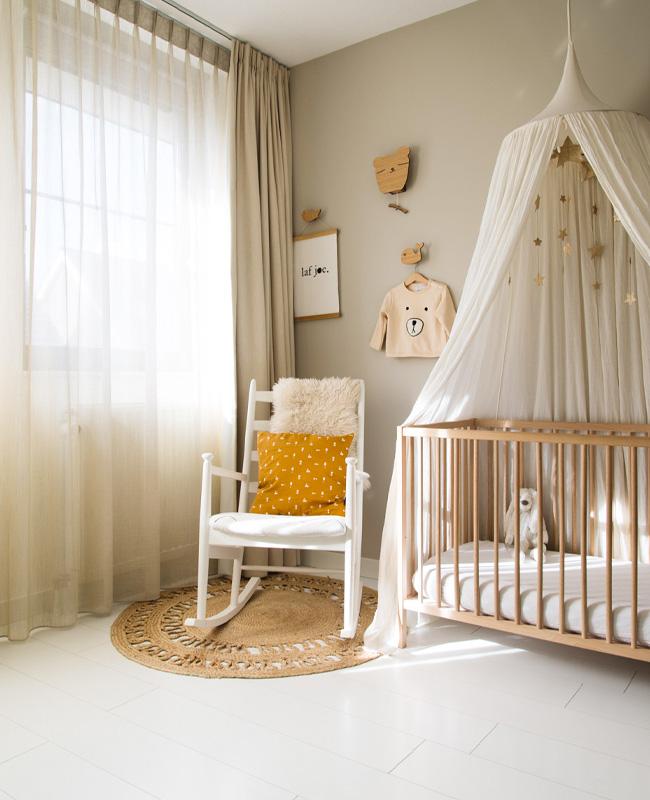 deco chambre bebe gris beige blanc