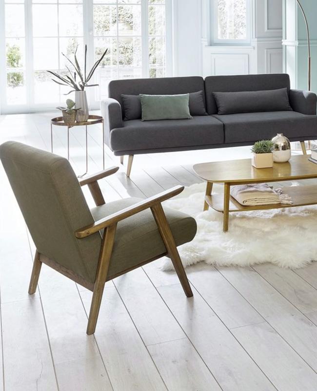 fauteuil scandinave nordique vintage