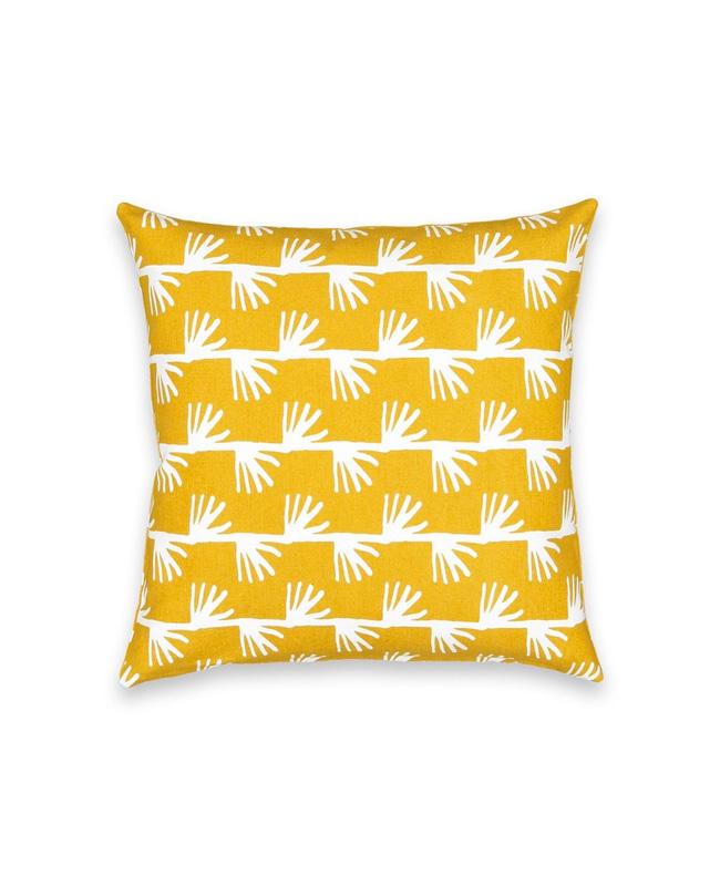 housse coussin imprimee jaune