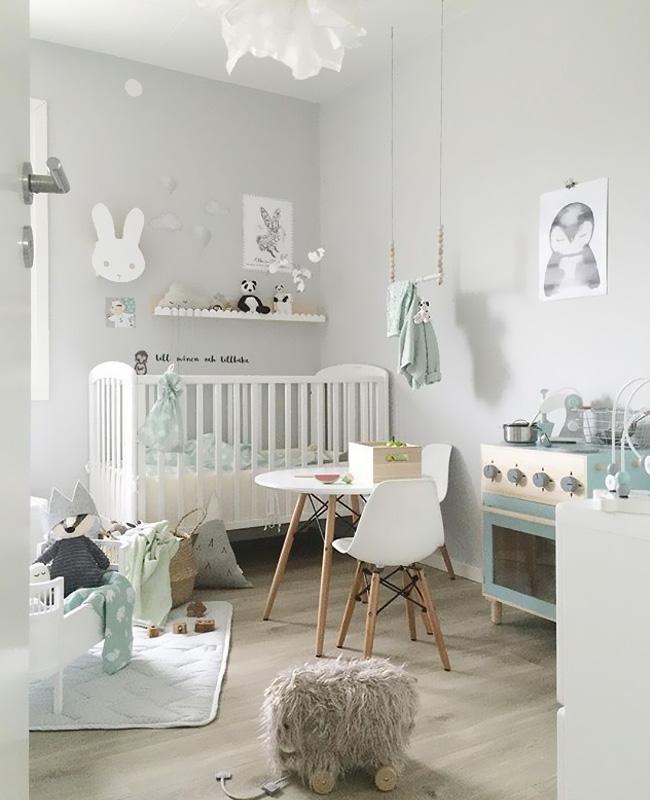 deco chambre bebe gris perle blanc