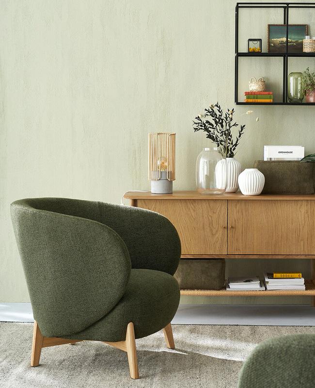 fauteuil scandinave moderne vert