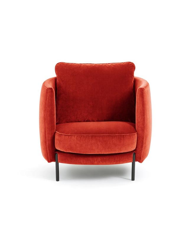 fauteuil velours rouge