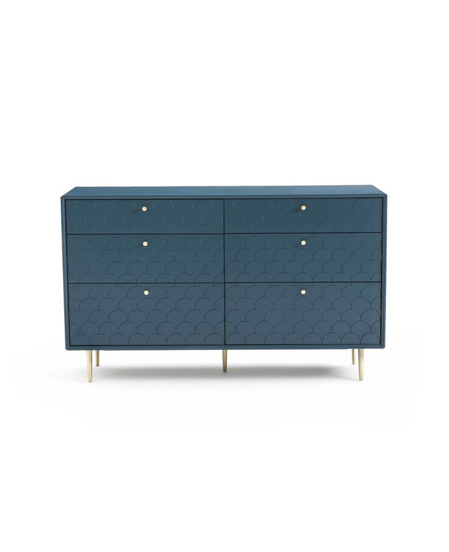 commode bleue 6 tiroirs