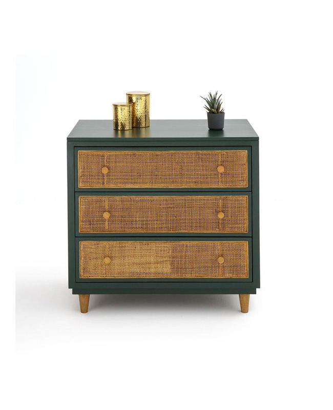 commode vert cannage