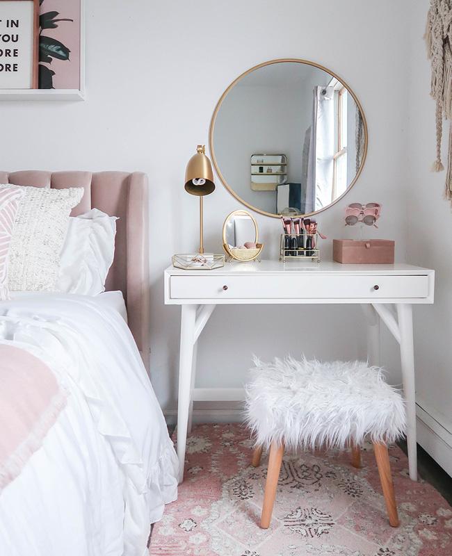 deco chambre ado rose tapis