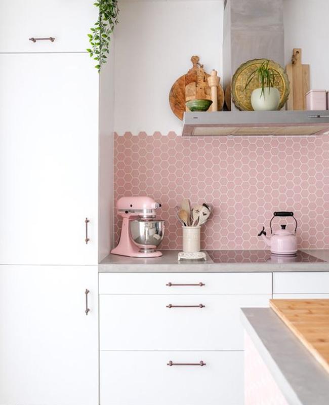 deco cuisine gris rose