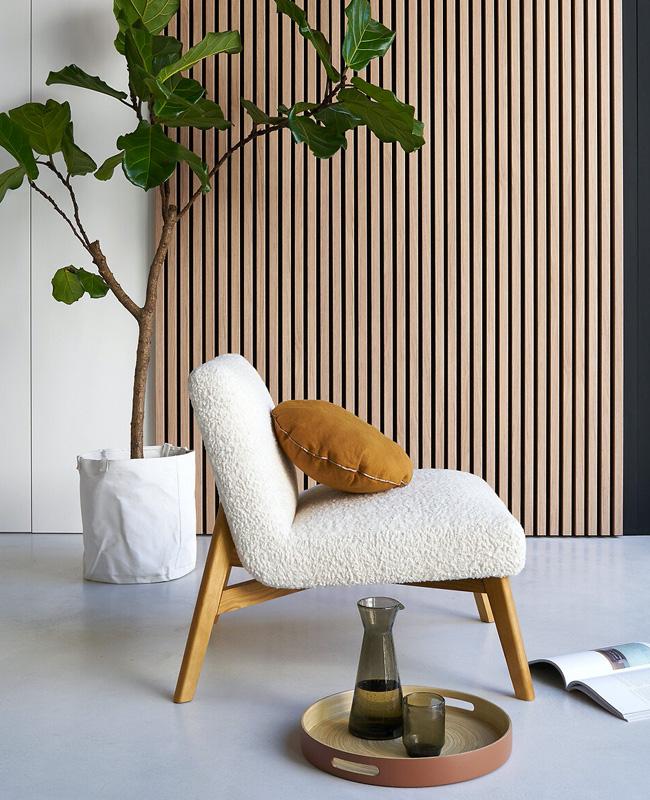 fauteuil scandinave moderne bois