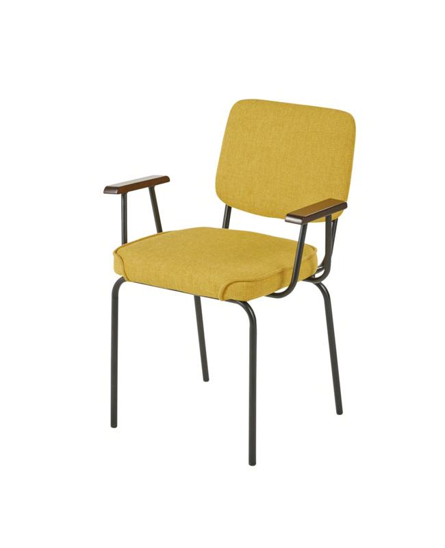 chaise accoudoir jaune