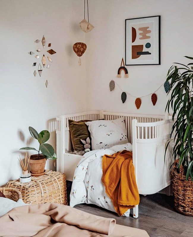 deco chambre bebe terracotta plaid