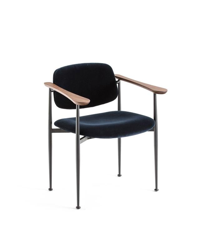 fauteuil table bleu nuit