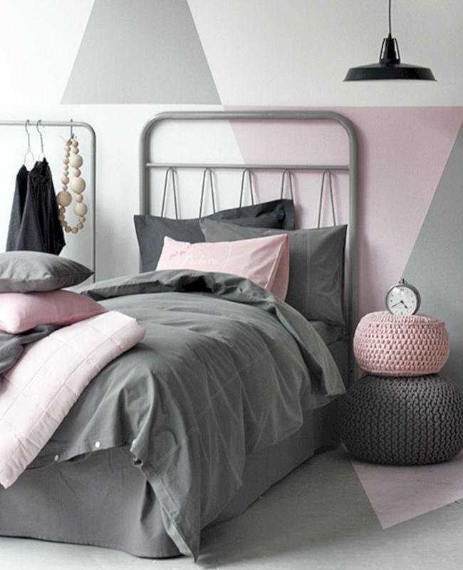 linge de lit rose deco chambre ado