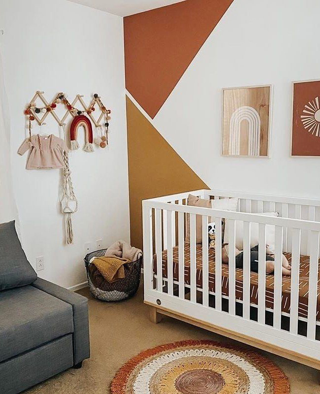 affiche chambre bebe deco terracotta
