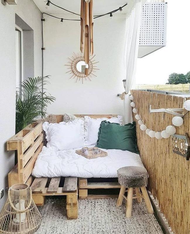 deco balcon cosy bois palette