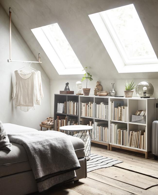 etagere basse chambre combles