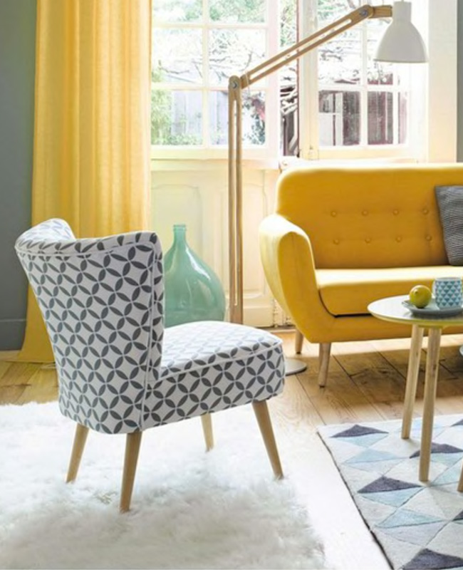 fauteuil scandinave vintage motifs