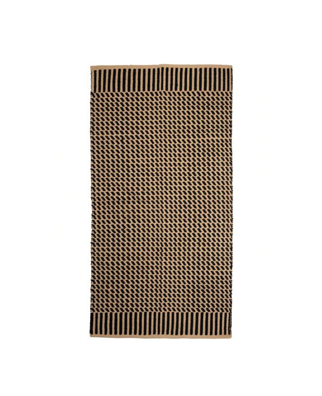 tapis coton marron noir