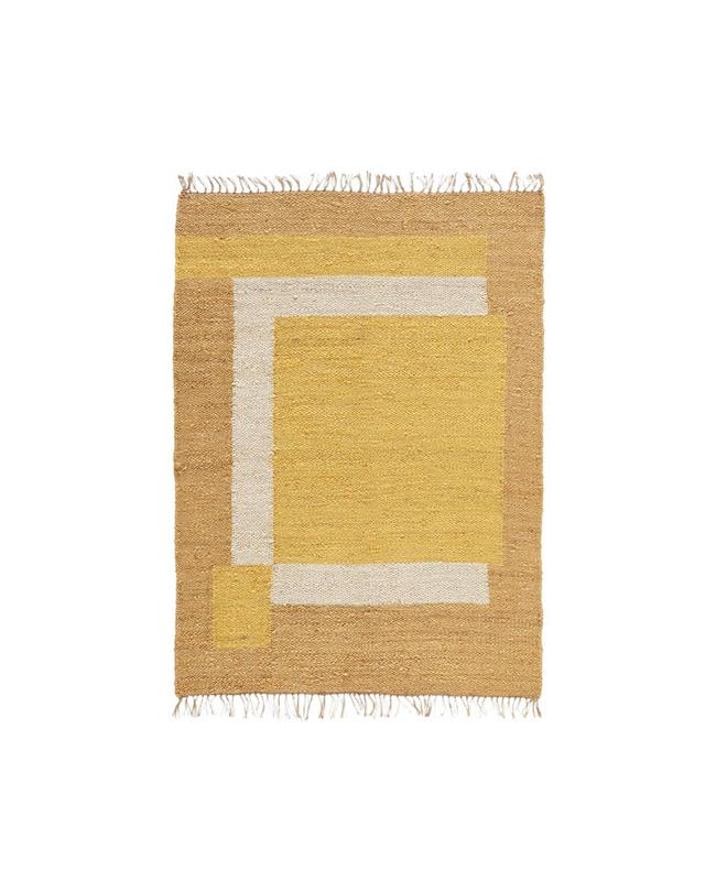 tapis jaune jute
