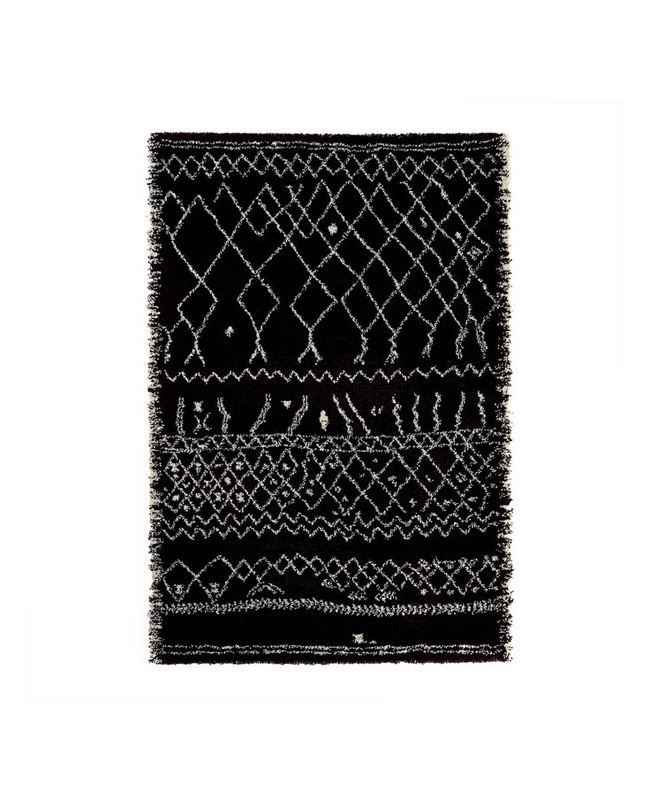 tapis noir beni ouarain