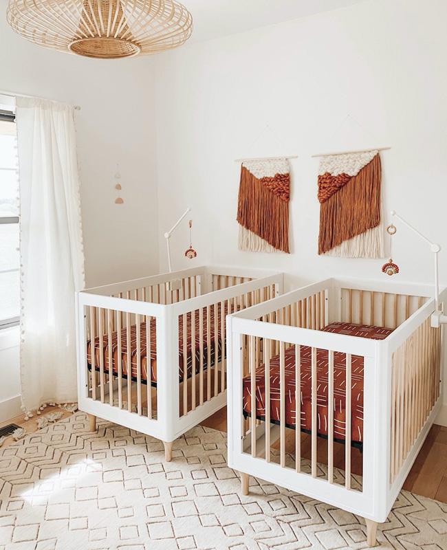 chambre bebe deco murale terracotta
