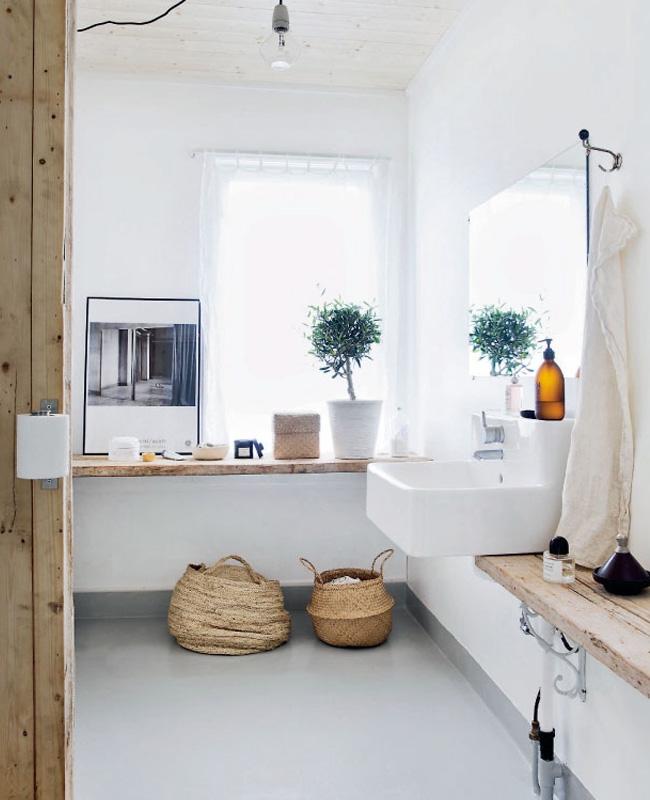 deco salle de bain nature matière naturelle