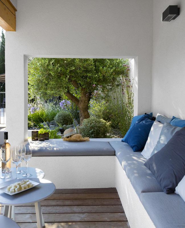 deco terrasse bleu moderne