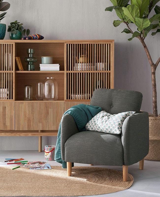 fauteuil scandinave nordique vert